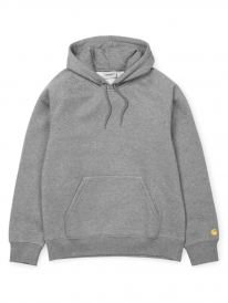 Carhartt WIP Chase Hoodie (heather grey/gold)