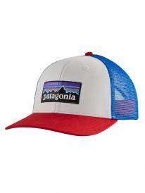 Patagonia P6 Logo Trucker Cap (white)