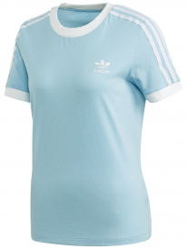 Adidas 3 Stripes T-Shirt (clear sky/white)
