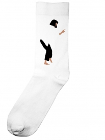 Dedicated Pulp Fiction Dance Socken (white)