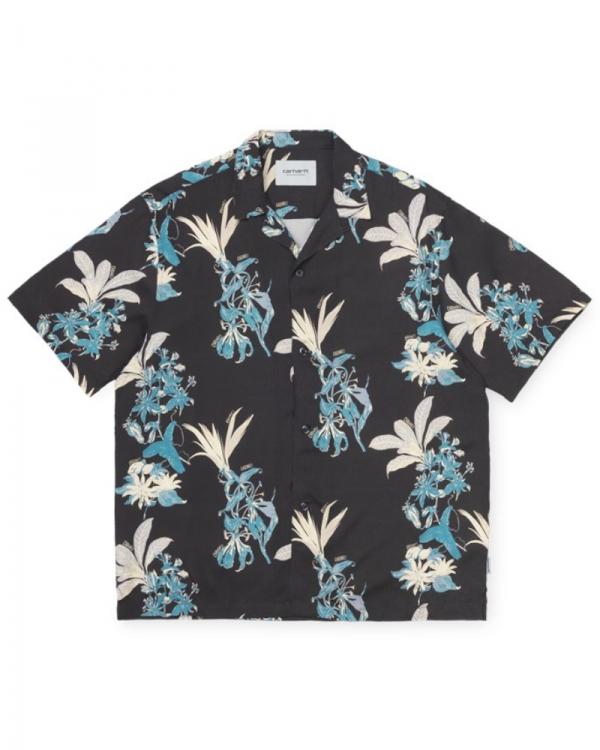 Carhartt WIP Hawaiian Floral Kurzarmhemd (hawaiian floral print/black)