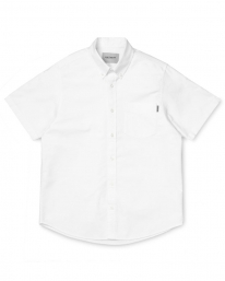 Carhartt WIP Button Down Pocket Kurzarmhemd (white)