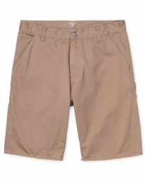 Carhartt WIP Ruck Single Knee Short (dusty hamilton brown stone washed)