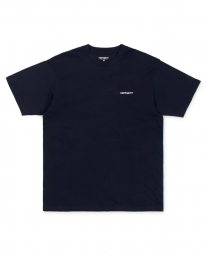 Carhartt WIP Script Embroidery T-Shirt (dark navy/white)