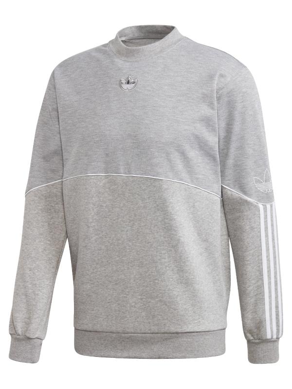 Adidas Outline Crew Sweater (medium grey heather)
