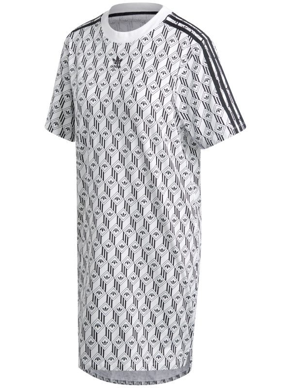 Adidas Tee Dress (white/black)