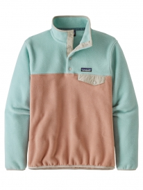 Patagonia W Lightweight Synchilla Snap-T Fleece Sweater (scotch pink)