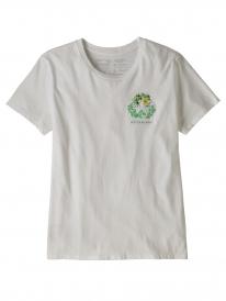Patagonia W Fiber Activist Organic Cotton Crew T-Shirt (white)