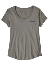 Patagonia W Sunset Sets Organic Cotton Scoop T-Shirt (feather grey)