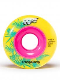 Orangatang Skiff Wheels 62mm 86a (yellow) 4er Satz