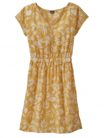Patagonia W June Lake Dress (fiber flora big/surfboard yellow)