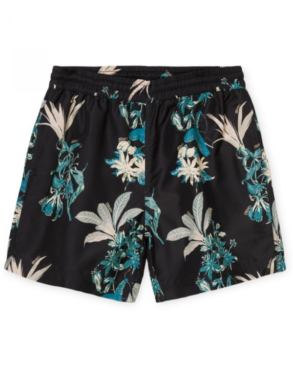 Carhartt WIP Drift Swim Trunks (hawaiian floral print/black)