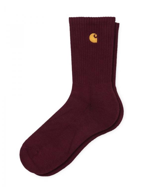 Carhartt WIP Chase Socken (bordeaux/gold)