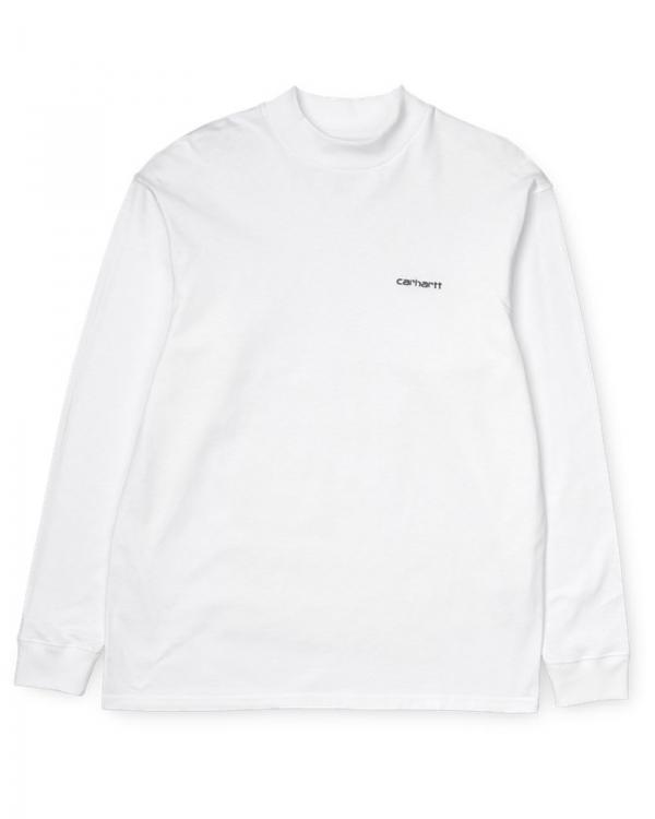 Carhartt WIP Mockneck Script Embroidery Longsleeve (white/black)