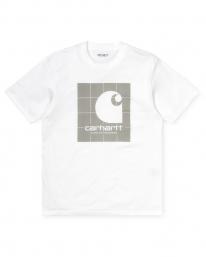 Carhartt WIP Reflective Square T-Shirt (white/reflective grey)