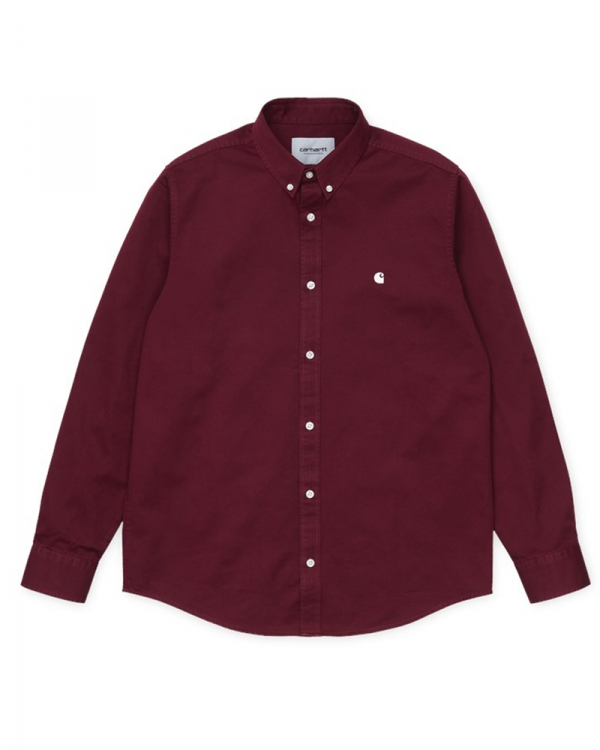 Carhartt WIP Madison Hemd (bordeaux/wax)