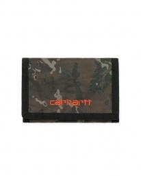 Carhartt WIP Payton Wallet (camo combi/safety orange)