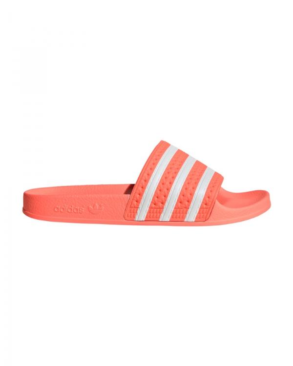 Adidas Adilette W Slipper (flash orange/white/flash orange)