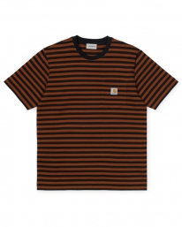 Carhartt WIP Parker Pocket T-Shirt (parker stripe/black/brandy)