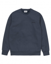 Carhartt WIP Script Embroidery Sweater (admiral/black)
