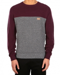 Iriedaily Auf Deck Stripe Strick Sweater (red wine)