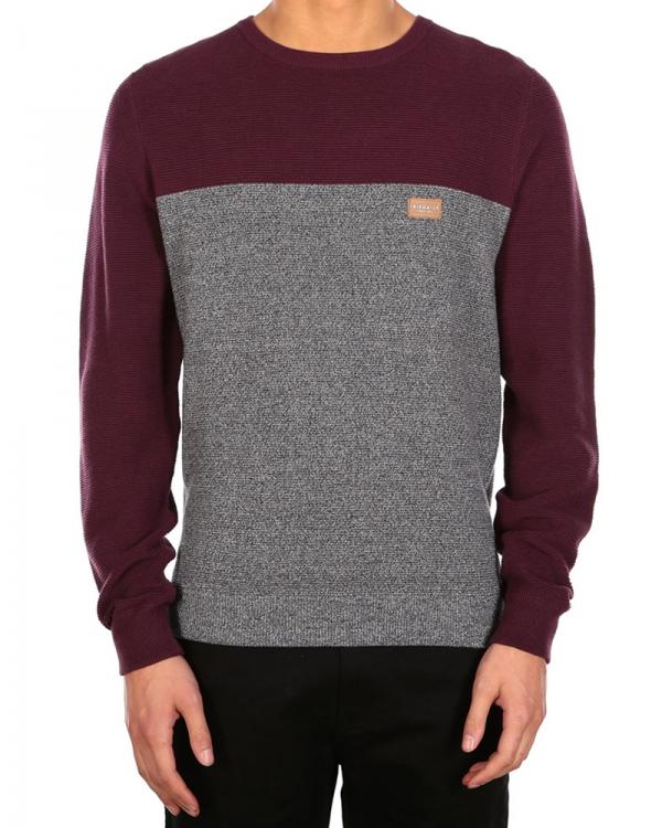 Iriedaily Auf Deck Stripe Strick Sweater (red wine)