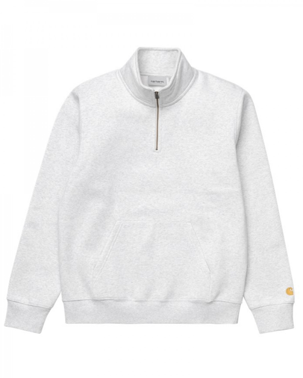 Carhartt WIP Chase Neck Zip Sweater (ash heather/gold)
