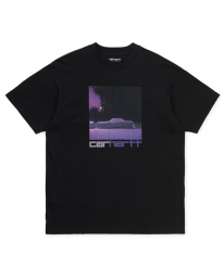 Carhartt WIP Purple Car T-Shirt (black)