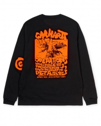 Carhartt WIP International Operations Longsleeve (black/orange)