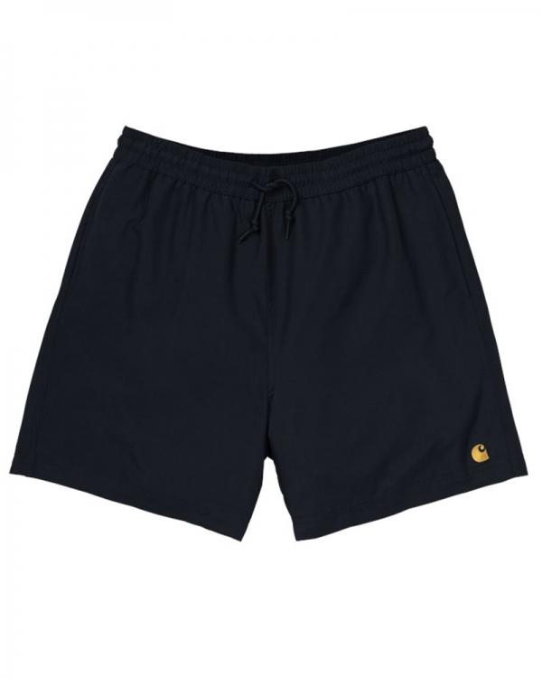 Carhartt WIP Chase Swim Trunks (black/gold)