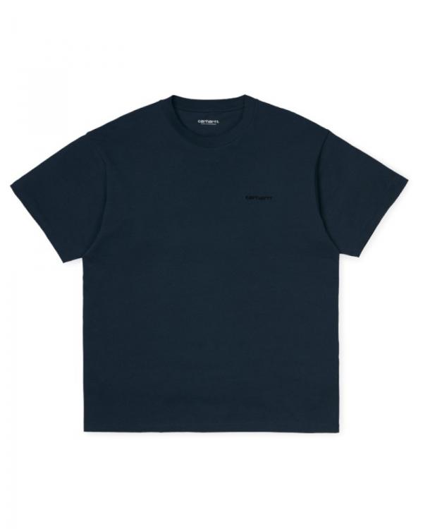 Carhartt WIP Script Embroidery T-Shirt (admiral/black)
