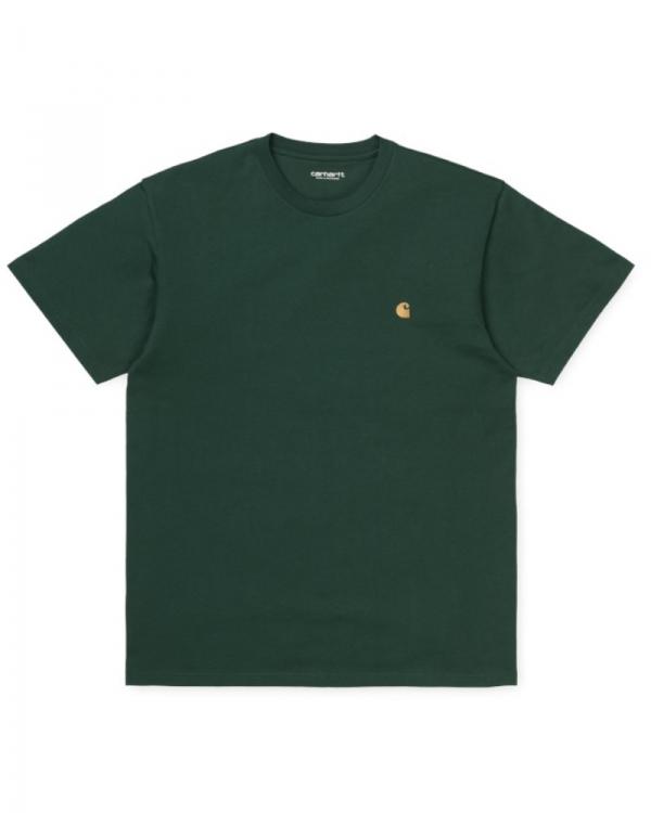 Carhartt WIP Chase T-Shirt (dark teal/gold)