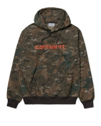 Carhartt WIP Sweat Hoodie (camo combi/safety orange)