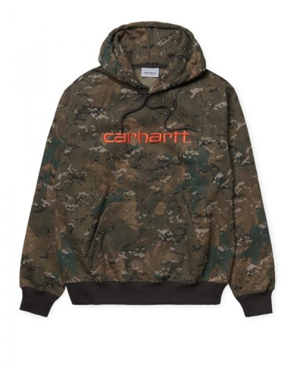 Carhartt WIP Sweat Hoodie (camo combi/safety orange)