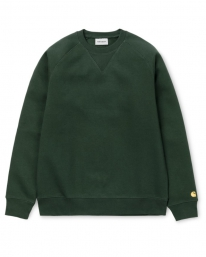 Carhartt WIP Chase Sweater (dark teal/gold)