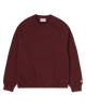 Carhartt WIP W Chase Sweater (bordeaux/gold)