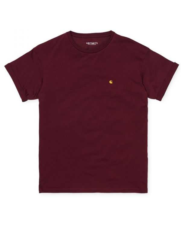 Carhartt WIP W Chase T-Shirt (bordeaux/gold)