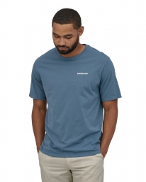 Patagonia P6 Logo Organic T-Shirt (pigeon blue)