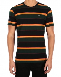 Iriedaily Rustico Stripe T-Shirt (black yellow)
