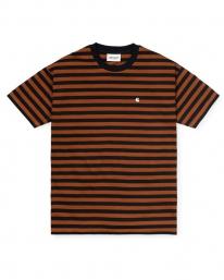 Carhartt WIP W Parker T-Shirt (parker stripe/black/brandy)
