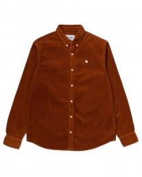Carhartt WIP Madison Cord Hemd (brandy/wax)