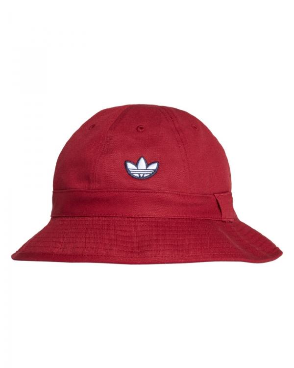 Adidas Samstag Bucket Hat (burgundy/white)