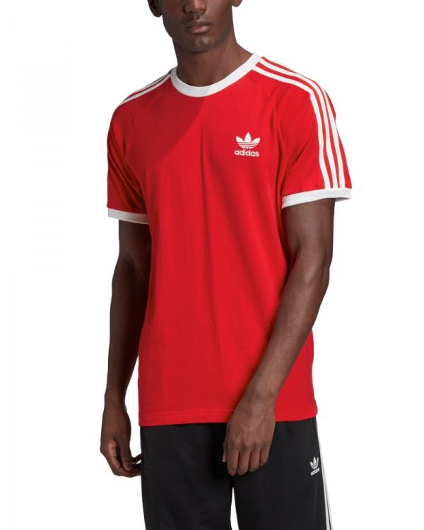 Adidas 3 Stripes T-Shirt (scarlet)