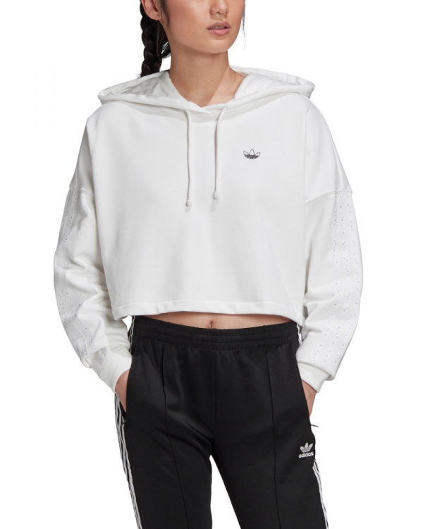 Adidas BB Cropped Hoodie (white)