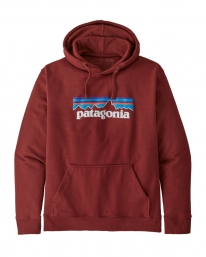 Patagonia P6 Logo Uprisal Hoodie (barn red)