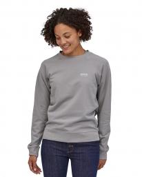 Patagonia W Pastel P6 Label Organic Crew Sweater (salt grey)