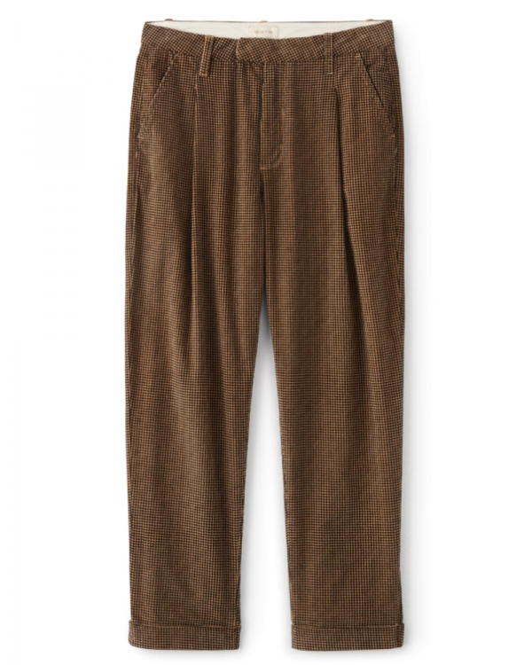 Brixton W Aberdeen Trouser Pant (khaki houndstooth)