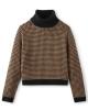 Brixton W Joni Strick Sweater (khaki houndstooth)