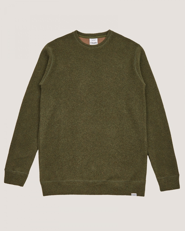 Cleptomanicx Noitch Crewneck (thyme)