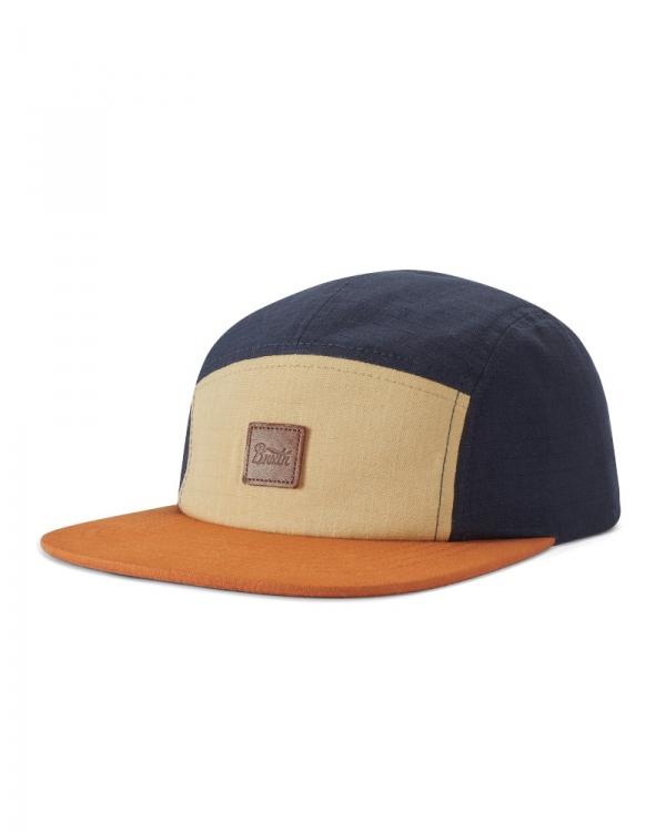Brixton Stith LP Camper Cap (gravel/amber/washed navy)